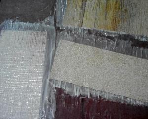 primera capa en muestras de papel de pared